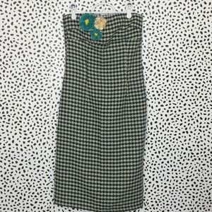 Anthropologie Ruth Tweed Strapless Midi Dress